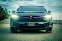 Tesla Model X Miete mieten leihen Leihwagen Mietwagen Autovermietung Händler Scheinwerfer LED Licht Frontscheinwerfer Facelift Aachen Deutschland greenspeed emobility Deutschland Eifel Rheinland Nordrhein-Westfalen